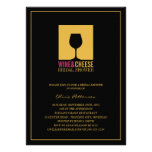 Elegant Gold Black Wine Bridal Shower Invitations Personalized Invites