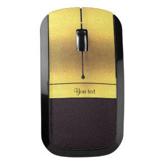 Elegant Gold & Black Wireless Mouse