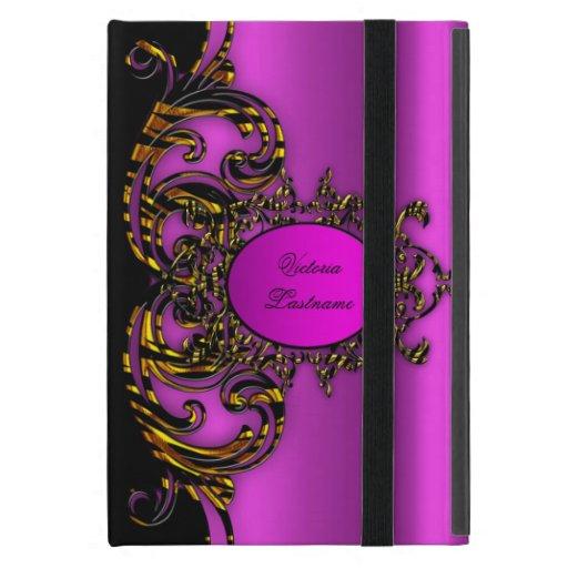 Elegant Gold black Zebra Hot Pink Fashionable iPad Mini Case