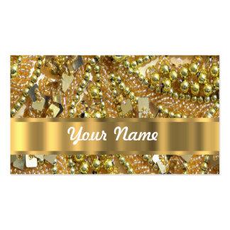 Elegant gold bling business card