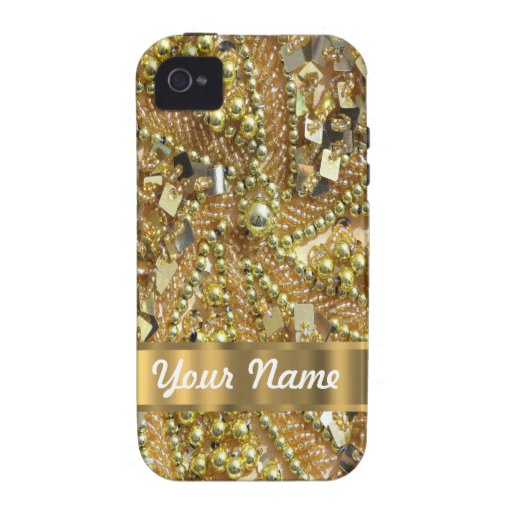 Elegant gold bling Case-Mate iPhone 4 cover