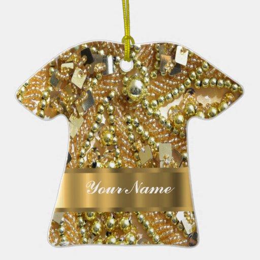 Elegant gold bling christmas ornament