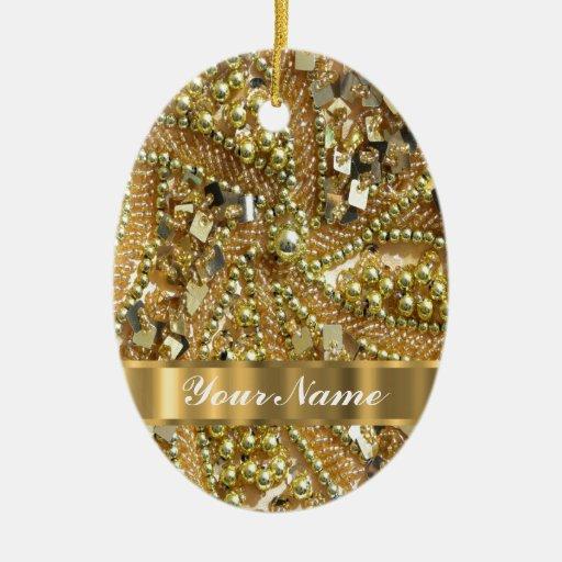 Elegant gold bling christmas tree ornaments zazzle