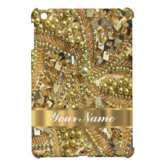 Elegant gold bling iPad mini covers
