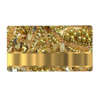 Elegant gold bling shipping label