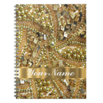 Elegant gold bling notebook