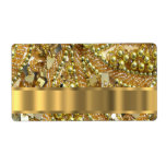 Elegant gold bling personalized shipping label