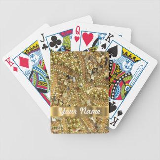 Elegant gold bling playing cards