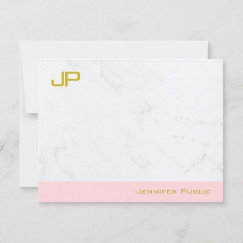 Elegant Gold Blush Pink Marble Simple Template