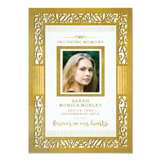 Elegant Gold Border Photo Thank You - Perhaps Poem Card
