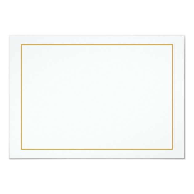 elegant gold border wedding website insert card zazzle