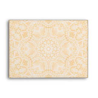 Elegant Gold Bridal Lace A7 Envelope