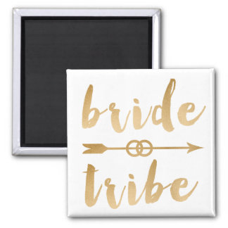 elegant gold bride tribe arrow wedding rings magnet