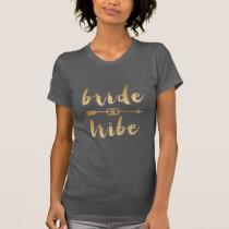 elegant gold bride tribe arrow wedding rings T-Shirt
