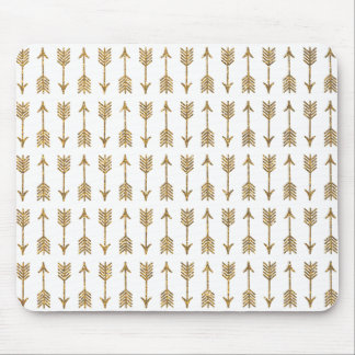 Elegant Gold Brown Arrows Glitter Photo Print Mouse Pad