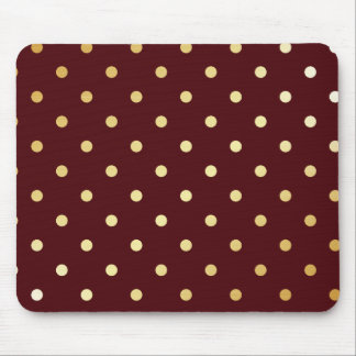 elegant gold brown polka dots mouse pad