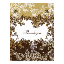 """Elegant """"gold brown""""Thank You Cards"""