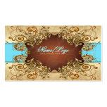 Elegant Gold & Brown Tones Vintage Frame 2 Business Cards