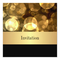 Elegant Gold Bubbles Black Special Occasion Event Card