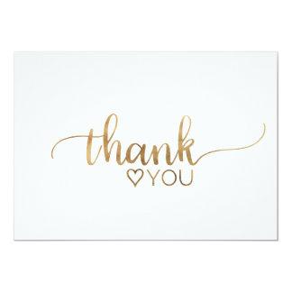 Elegant Gold Calligraphy Thank You Card