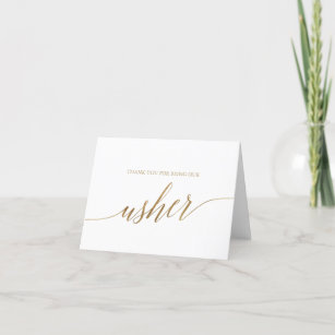 Wedding Thank You Card FREE UK DELIVERY Witty Usher Card Usher Thank You Card Funny Usher Thanks Sarcastic Usher Thank You
