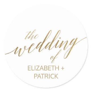 Elegant Gold Calligraphy Wedding Envelope Seals
