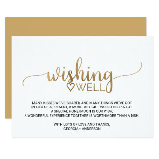 Short Wishing Well Wording For Wedding Invitations - Life Style By ...