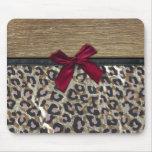 Elegant Gold Cheetah Print Mouse Pad