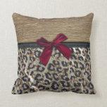 Elegant Gold Cheetah Print Pillow