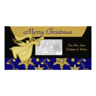 Elegant gold Christmas holiday greeting Photo Card