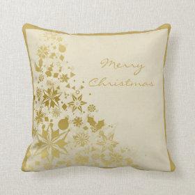 Elegant Gold Christmas Sparkles Throw Pillows