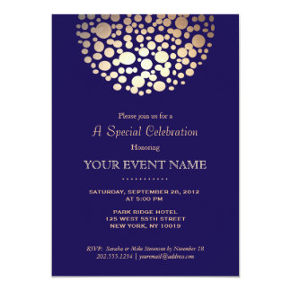 Awards dinner invitations announcements zazzle elegant gold circle sphere navy blue formal card stopboris