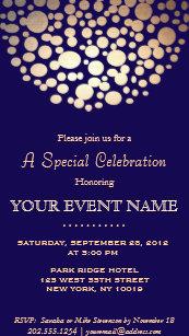 Formal wedding invitations zazzle elegant gold circle sphere navy blue formal invitation stopboris Image collections