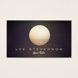 Feng shui business cards templates zazzle elegant gold circle sphere wood look simple modern business card colourmoves