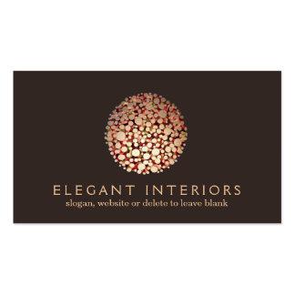 Elegant Gold Circles Sphere Interior Designer 3 Business Card
