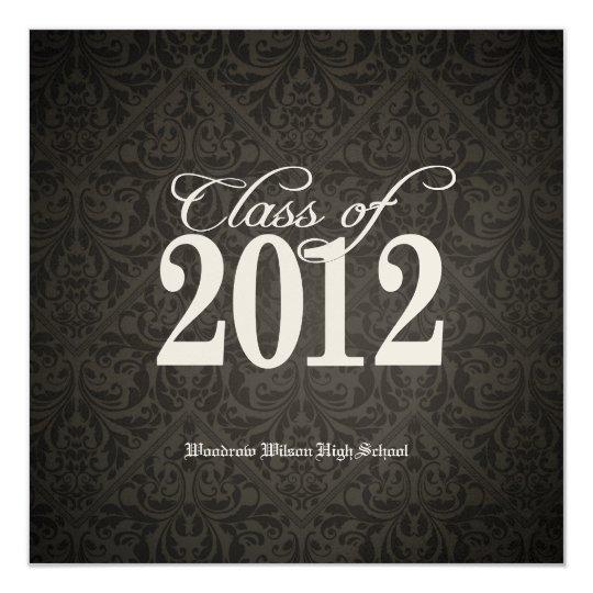 Elegant Gold Class of 2012 Damask Graduation Card