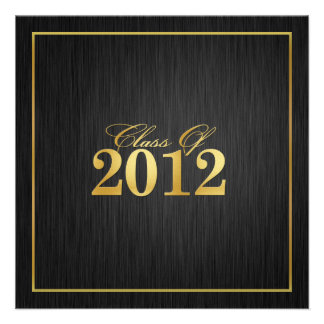 Elegant Gold Class of 2012 Graduation Invitation