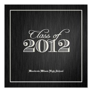 Elegant Gold Class of 2012 Invites