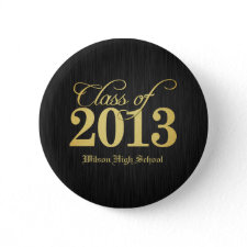 Elegant Gold Class of 2013 buttons / pins