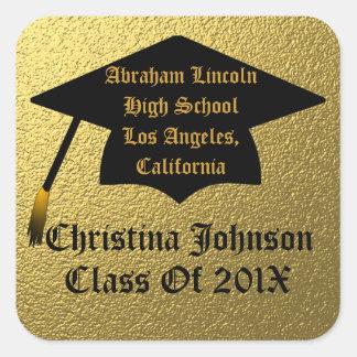 Elegant Gold Class Of 2013 Graduation Stickers