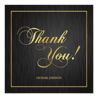 "Elegant ""Gold"" Class of 2013 Graduation Thank You Card"