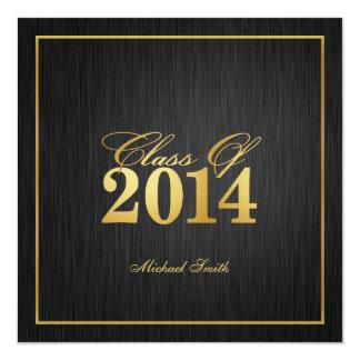 "Elegant ""Gold"" Class of 2014 Graduation Invitation"