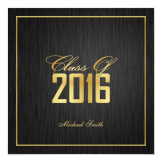 "Elegant ""Gold"" Class of 2016 Graduation Invitation"