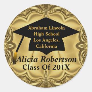 Elegant Gold Class Of 201x Graduation Stickers