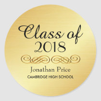 Elegant Gold Class of Graduation Envelope Seals