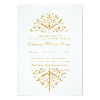 Elegant Gold Company Holiday Party Invitation