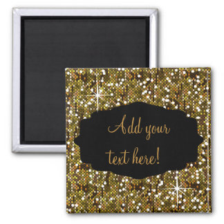 Elegant Gold Confetti Look 2 Inch Square Magnet