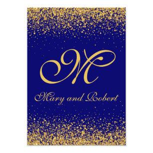 Royal Blue Background Invitations Zazzle