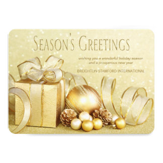 Elegant Gold Corporate Christmas Card