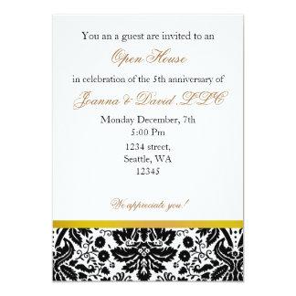 """Elegant gold Corporate party Invitation 5"""" X 7"""" Invitation Card"""